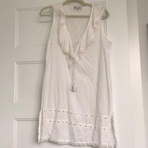 Mudpie linen white dress , size small